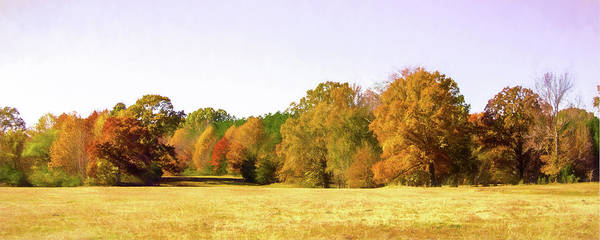Photograph - Fall Landscape Panorama by Barry Jones