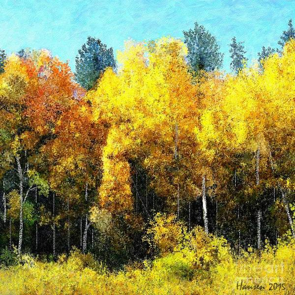 Scumble Wall Art - Painting - Fall Leaves In Colorado by Mia Hansen