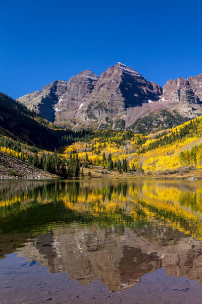 Photograph - Fall Morning At Maroon Bells Aspen Colorado by Teri Virbickis