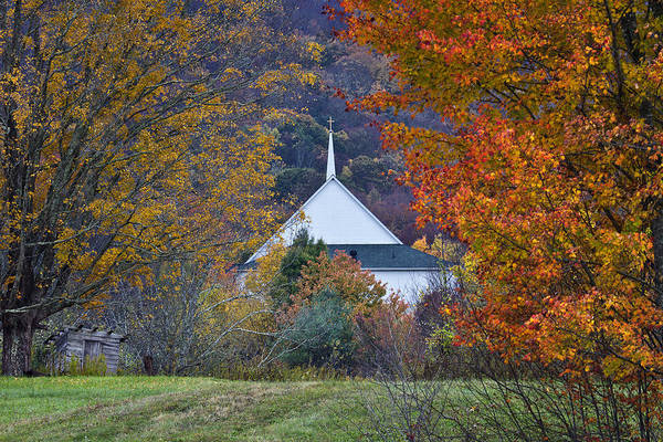 Photograph - Fall Mountain Church  by Ken Barrett