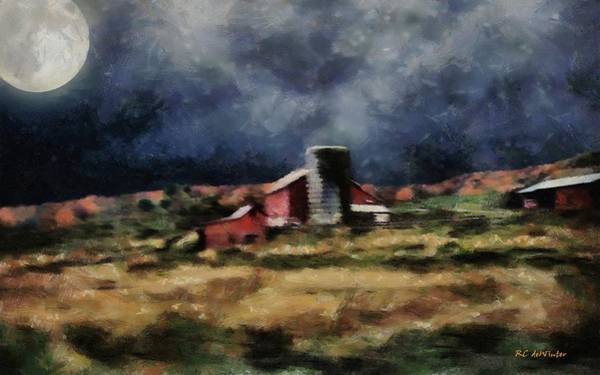 Painting - Fall Night At The Farm by RC DeWinter