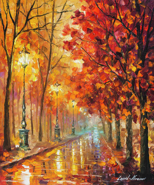 Wall Art - Painting - Fall Night by Leonid Afremov