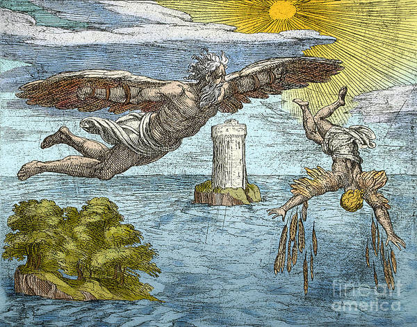 Photograph - Fall Of Icarus by Science Source
