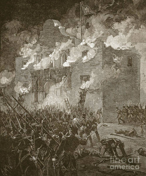 Wall Art - Drawing - Fall Of The Alamo by Alfred Rudolph Waud