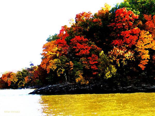 Digital Art - Fall On Grand Lake by Susan Vineyard