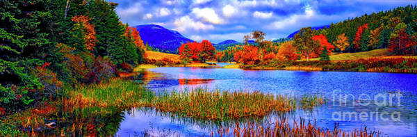 Fall On Long Pond Acadia National Park Maine  Art Print