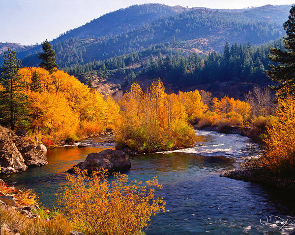 Fox River Wall Art - Photograph - Fall On The Truckee River by Vance Fox