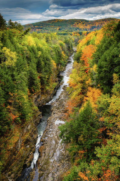 Photograph - Fall Quechee Gorge, Vt by Michael Hubley
