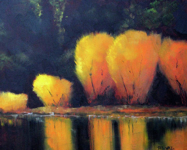 Wall Art - Painting - Fall Reflection by Nancy Merkle