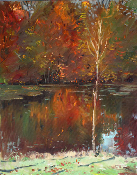 Fine Painting - Fall Reflection by Ylli Haruni