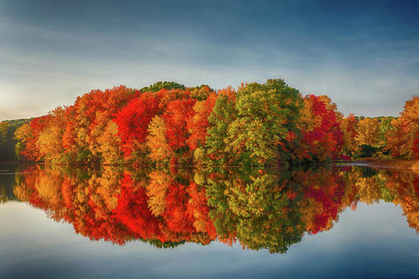 Photograph - Fall Reflections At Mill Pnd by Jack Peterson