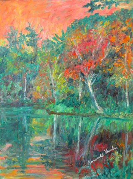 Painting - Fall Reflections At Peaks Of Otter Stage Two by Kendall Kessler