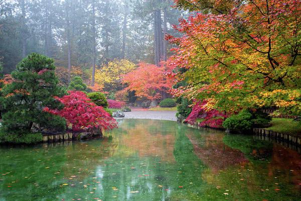 Manito Park Spokane Photograph - Fall Reflections by James Richman