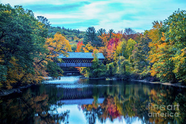 Henniker Wall Art - Photograph - Fall Reflections by Kevin Fortier