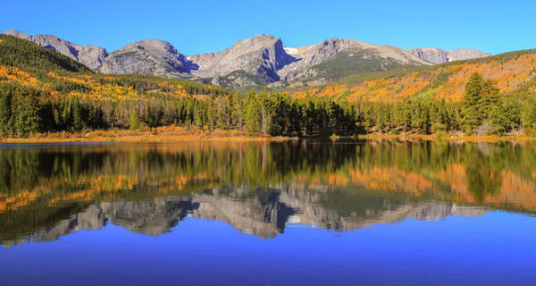 Photograph - Fall Reflections On Sprague Lake Colorado by Dan Sproul