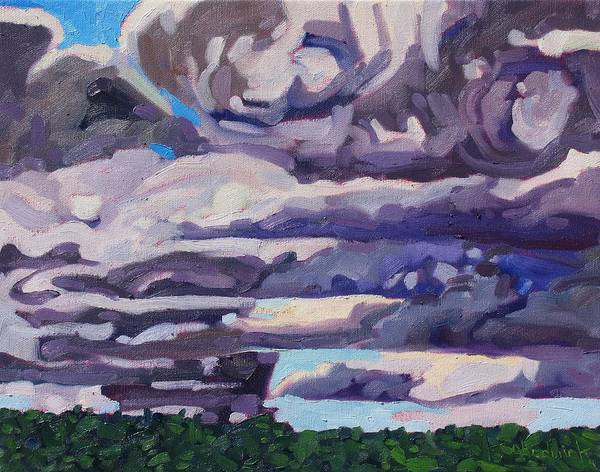 Stratocumulus Painting - Fall Sc In August by Phil Chadwick