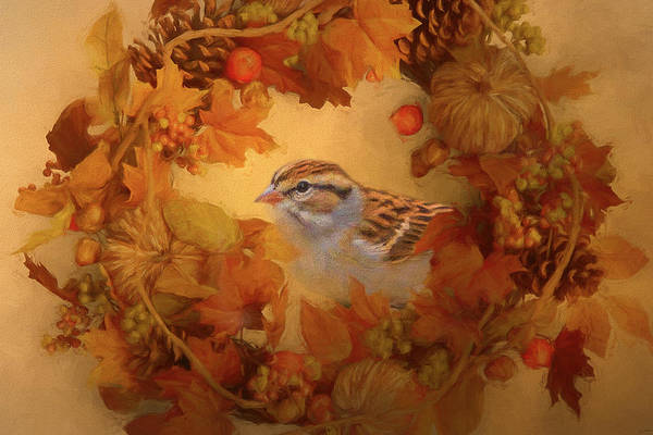 Painting - Fall Sparrow by Jai Johnson