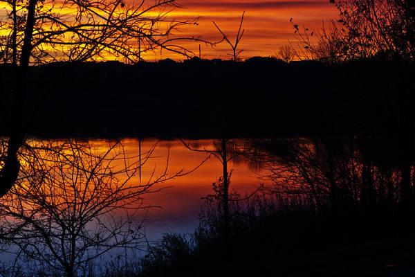 Photograph - Fall Sunset by Edward Peterson