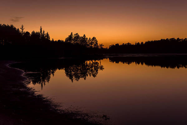 Lakehurst Photograph - Fall Sunset Lake Horicon Nj  by Terry DeLuco