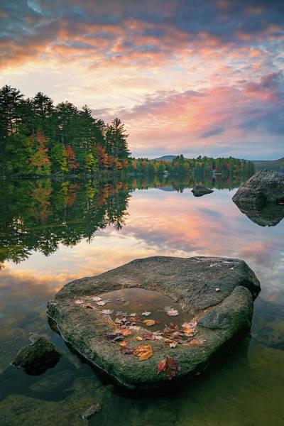 Photograph - Fall Sunset Over Bear Pond by Darylann Leonard Photography