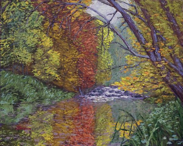 Oak Creek Canyon Painting - Fall Tranquility At Oak Creek Canyon Sedona by Jeff Franco