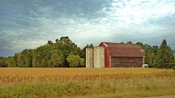 Wall Art - Photograph - Fall Turn And Fading Barn by Garth Glazier