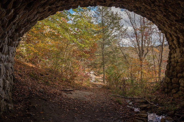 Photograph - Fall Under The Cobblestone Bridge by Kirkodd Photography Of New England