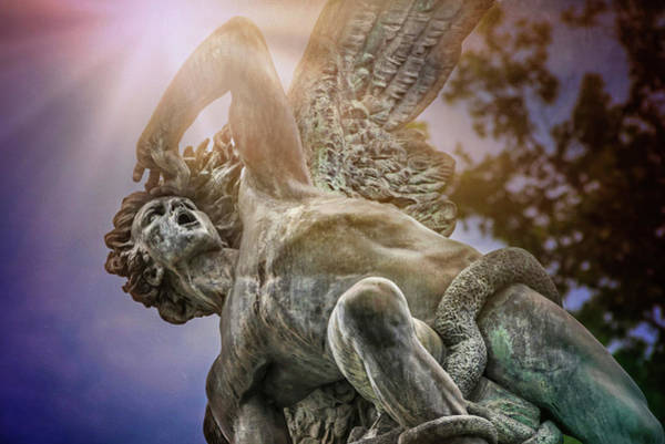 Wall Art - Photograph - Fallen Angel Retiro Park Madrid  by Carol Japp