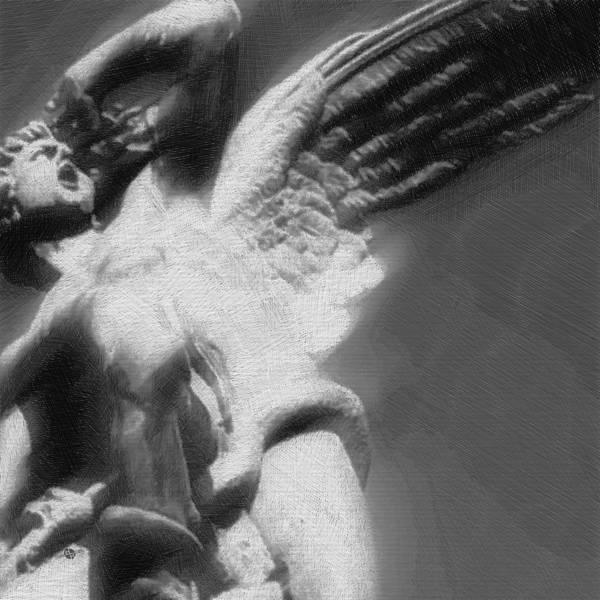 Anguish Mixed Media - Fallen Angel by Tony Rubino