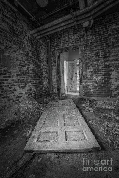 Letchworth Photograph - Fallen Doors Bw by Michael Ver Sprill