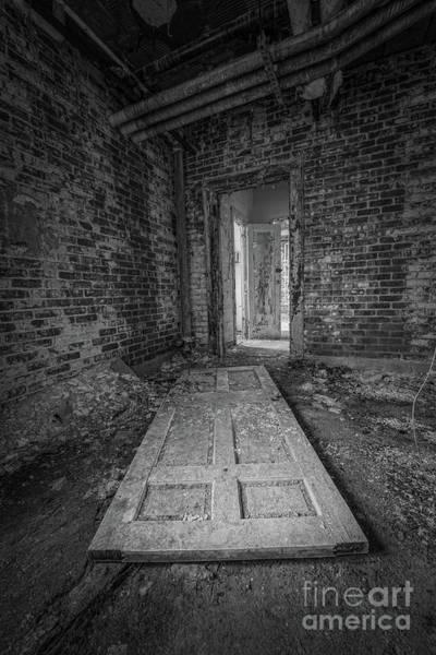 Wall Art - Photograph - Fallen Doors Bw by Michael Ver Sprill