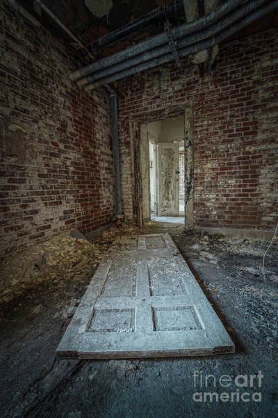 Letchworth Photograph - Fallen Doors by Michael Ver Sprill