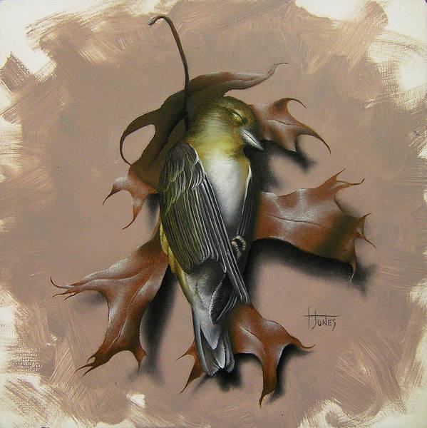 Wall Art - Painting - Fallen Finch by Timothy Jones