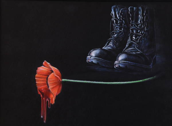 Remembrance Painting - Fallen by Karl Hamilton-Cox