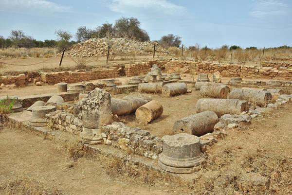 Photograph - Fallen Roman Columns by Paul Cowan