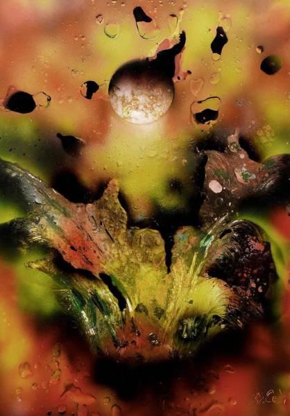 Wall Art - Painting - Falling Drops by Nandor Molnar