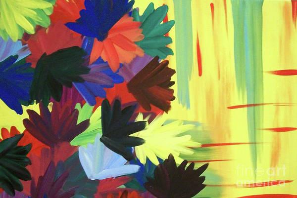 Painting - Falling Flowers by Jilian Cramb - AMothersFineArt