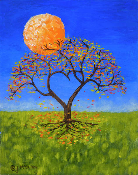 Full Moon Wall Art - Painting - Falling For You by Jerry McElroy