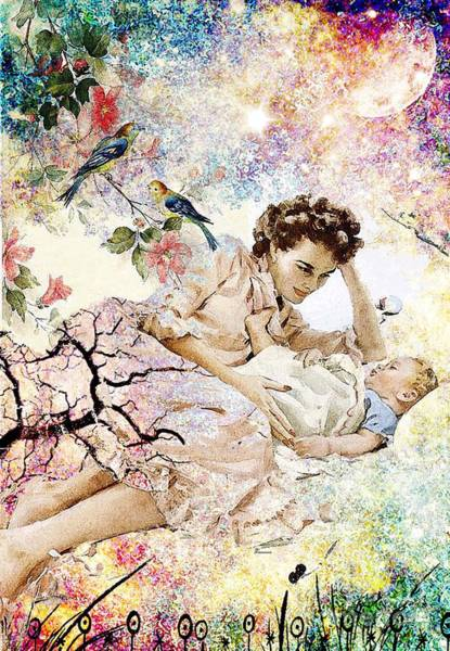 Pregnancy Mixed Media - Falling In Love Again by Tammera Malicki-Wong