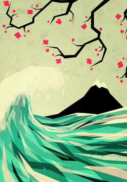 Wave Wall Art - Digital Art - Falling In Love by Yetiland
