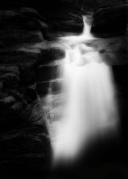 Photograph - Falling Into The Abyss Black And White by Bill Wakeley