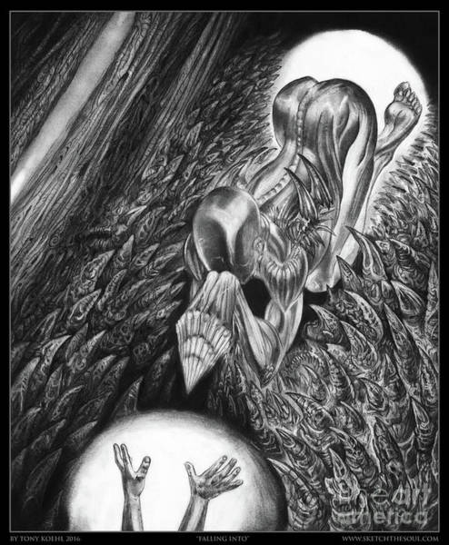 Drawing - Falling Into by Tony Koehl