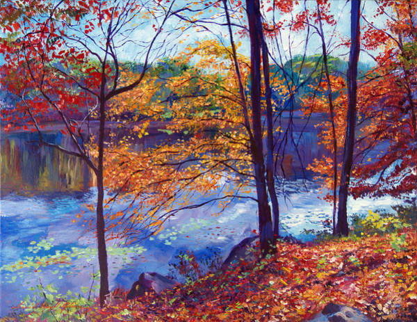 Wall Art - Painting - Falling Leaves by David Lloyd Glover