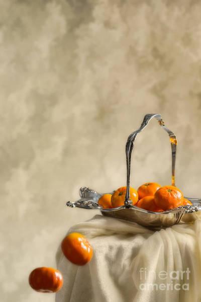 Mandarin Wall Art - Photograph - Falling Oranges by Amanda Elwell