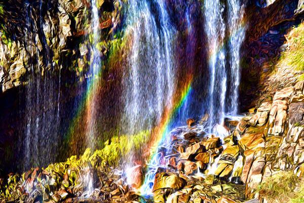 Falling Rainbows Art Print