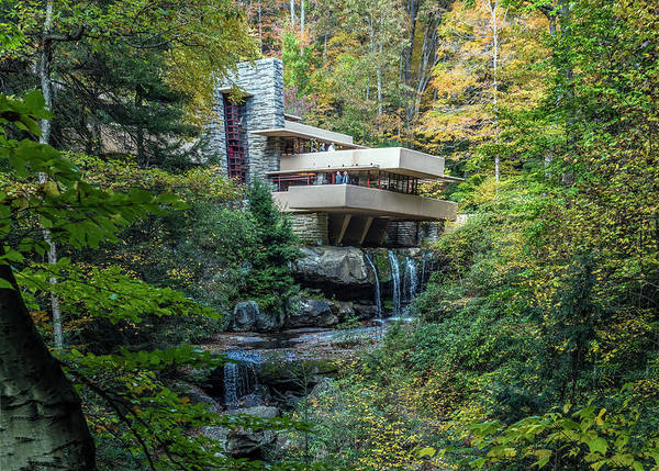 Photograph - Falling Water Historic House by William Bitman