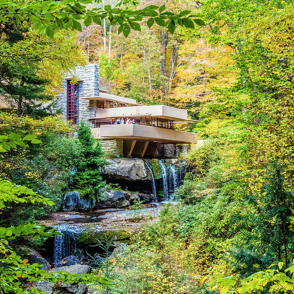 Photograph - Falling Water In Autumn by William Bitman