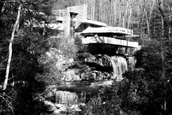 Wall Art - Photograph - Fallingwater Bw by Shelley Smith