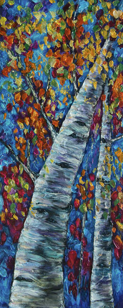 Painting - Falll In Rockies - Left Panel by OLena Art - Lena Owens