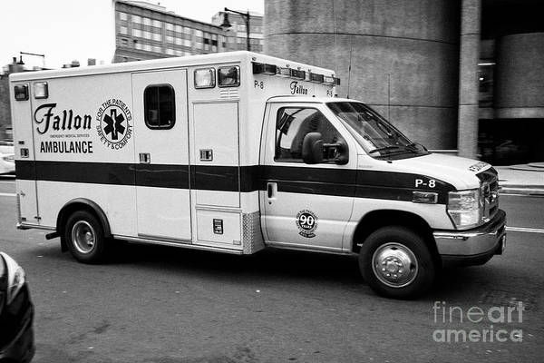 Fallon Wall Art - Photograph - Fallon Emergency Medical Services Ambulance Speeding On Call In Boston Usa, Deliberate Motion Blur by Joe Fox